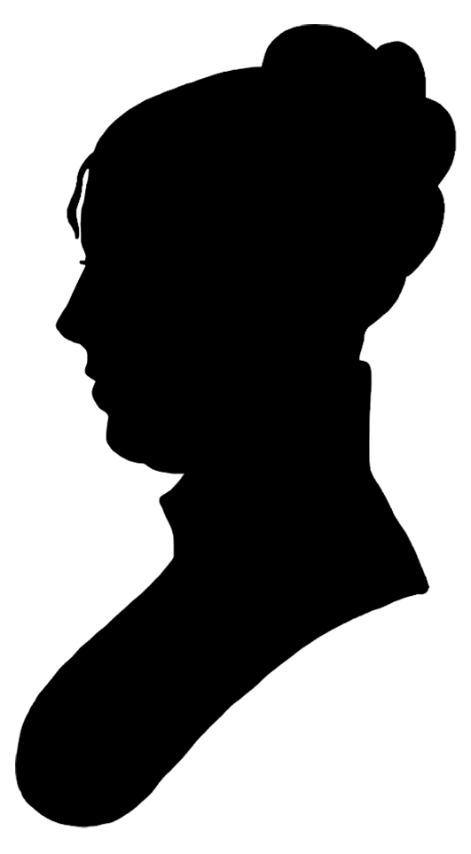 Face silhouette woman black