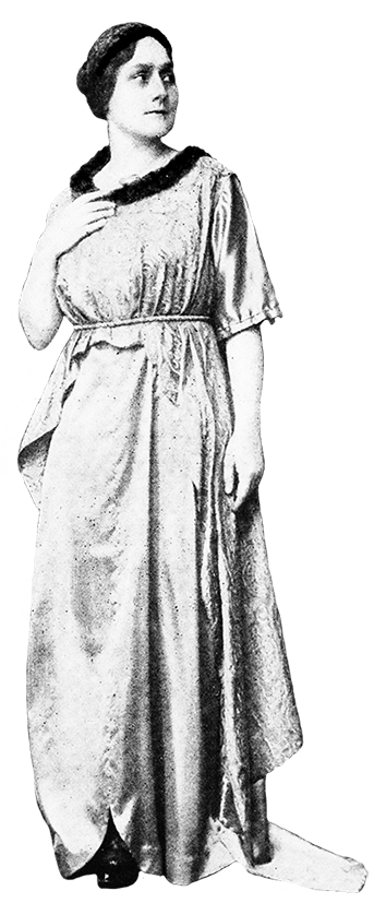 home designed party dress 1917