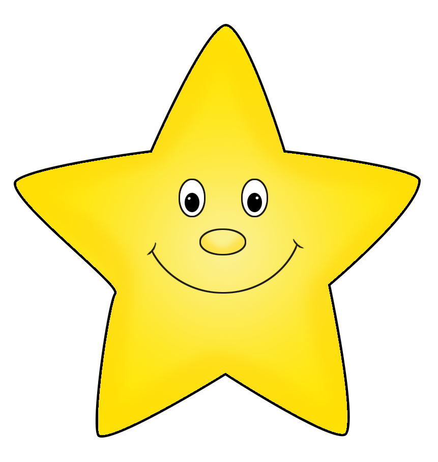 light yellow star clipart cartoon