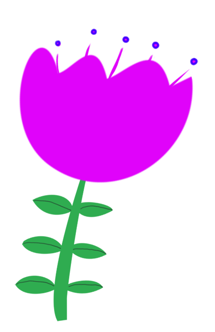 purple flower drawing for decorations