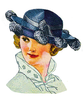 woman's fashion hat 1921
