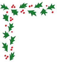 free christmas clip art corner border holly