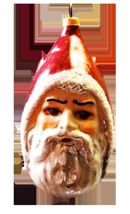Vintage Christmas tree Santa decoration
