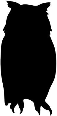 Front owl silhouette