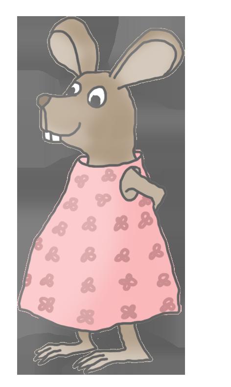 little girl mouse clip art