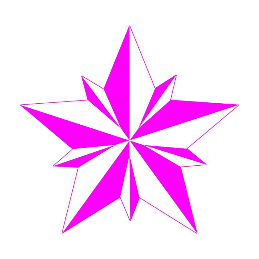 free star clipart pink star