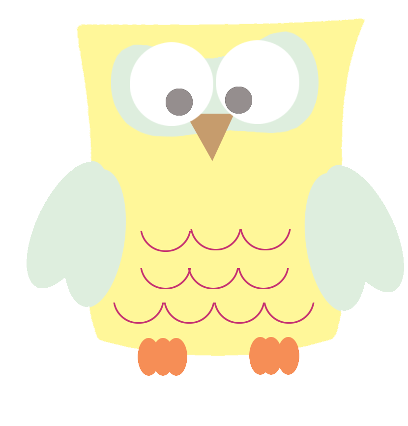 funny yellow owl clipart