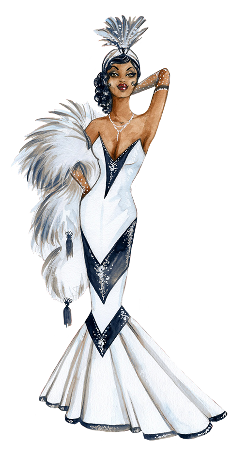 1950th diva clipart