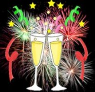 new years clipart firework champagne