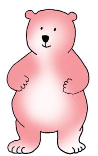 pink cartoon bear