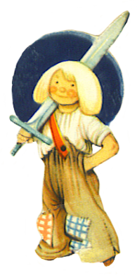 boy with toy sword