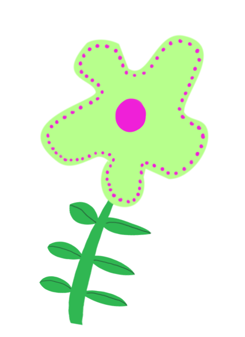 green flower decoration for scrapbooking