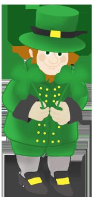 leprechaun with st. Patrick's day clover