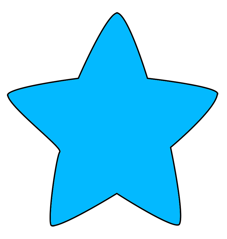 light blue clipart stars with rounded points