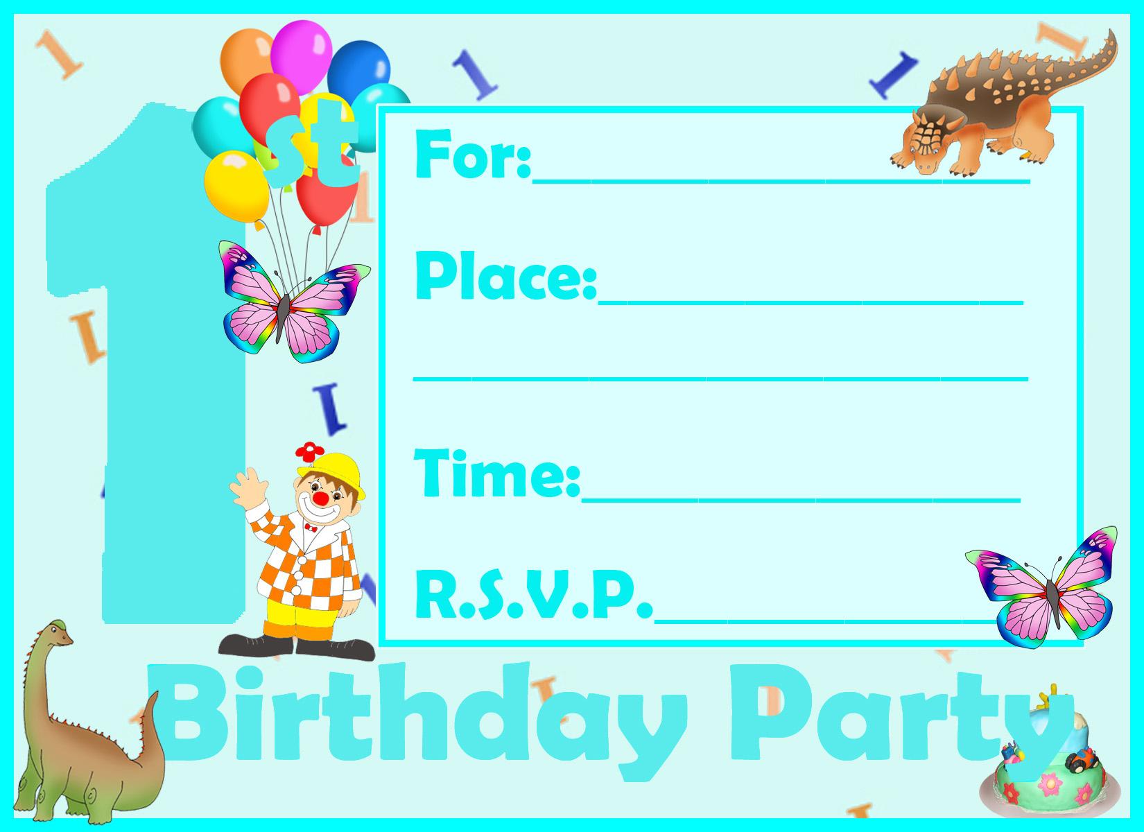 1st birthday invitation boy