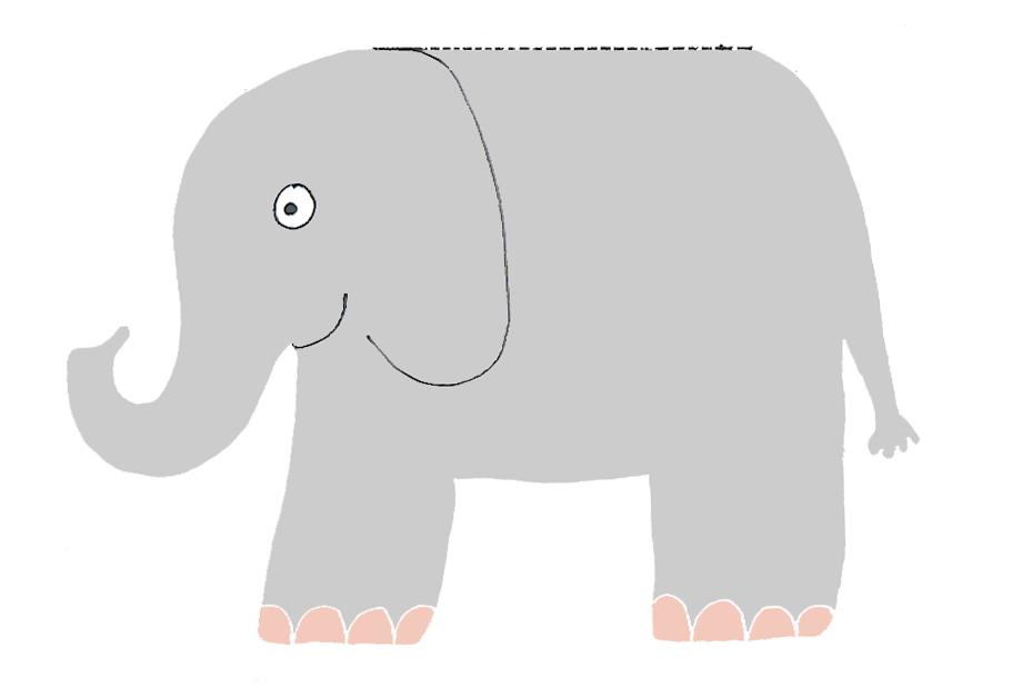 1st birthday invitations elephant card