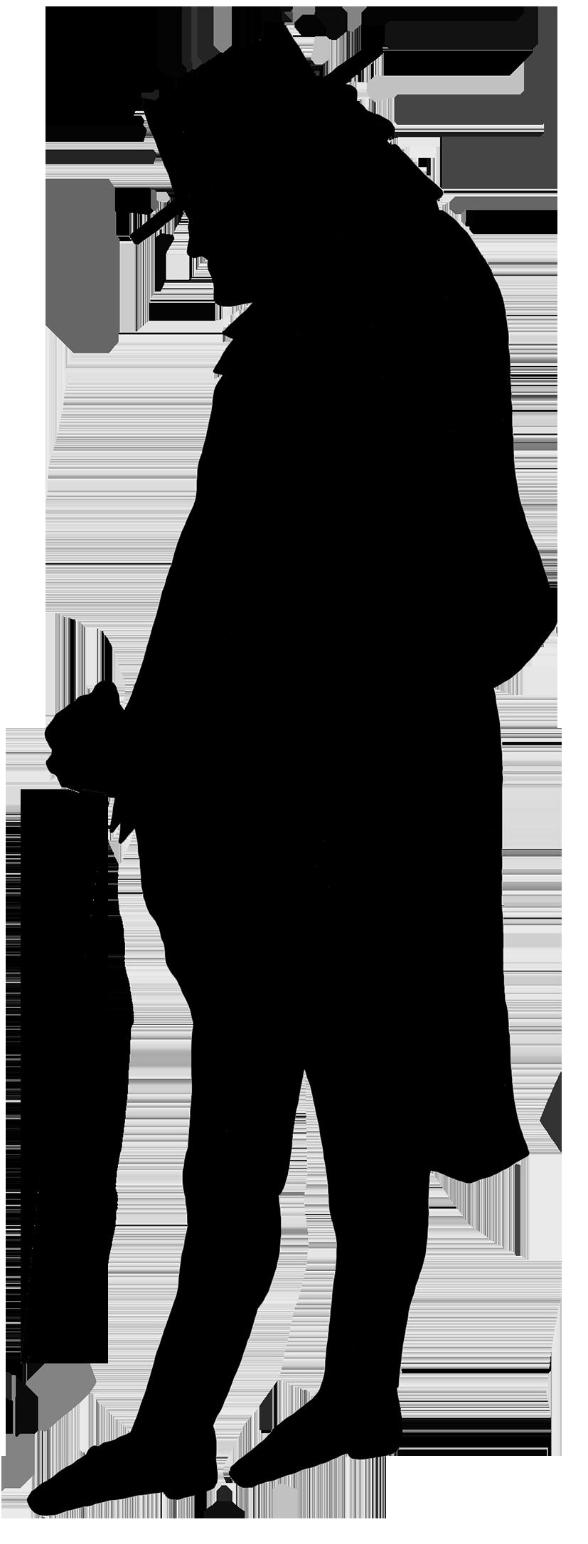 black silhouette Victorian era