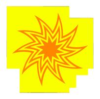 Yellow and orange star swirl