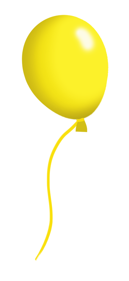 yellow balloon on a string