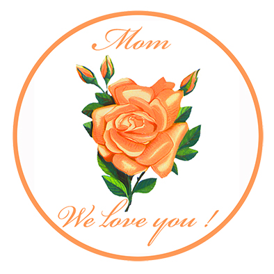 Mothers Day clip art we love you rose