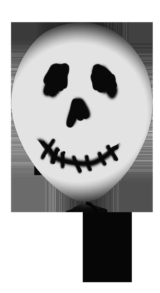 grey Halloween ballloon clipart