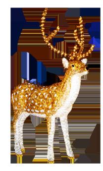 illuminated reindeer clip art
