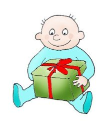 birthday clip art boy with gift