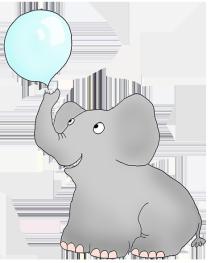 elephant blowing soap bubbles