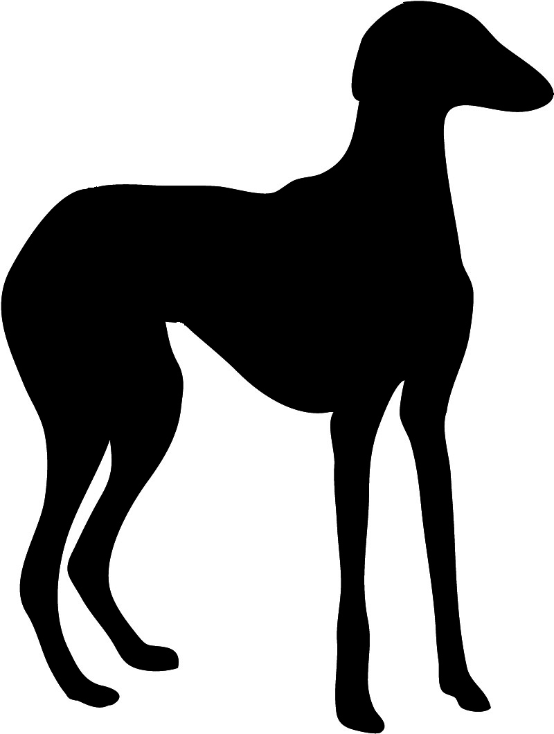 slim dog silhouette