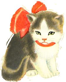 sad little kitten clipart