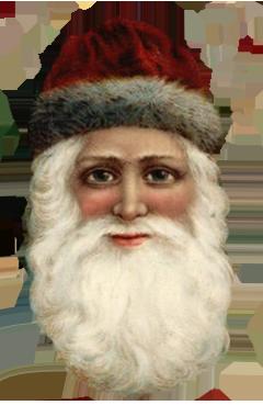 Vintage drawing Santa Claus head