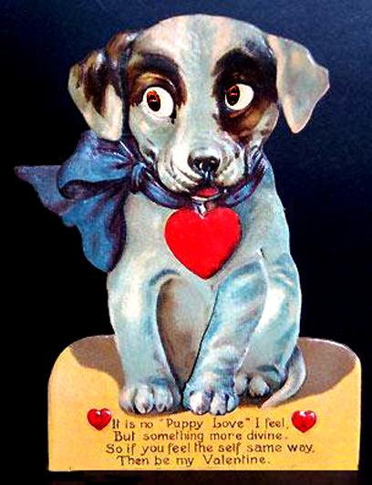 puppy love valentine greeting