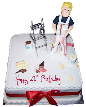 21th birthday cake
