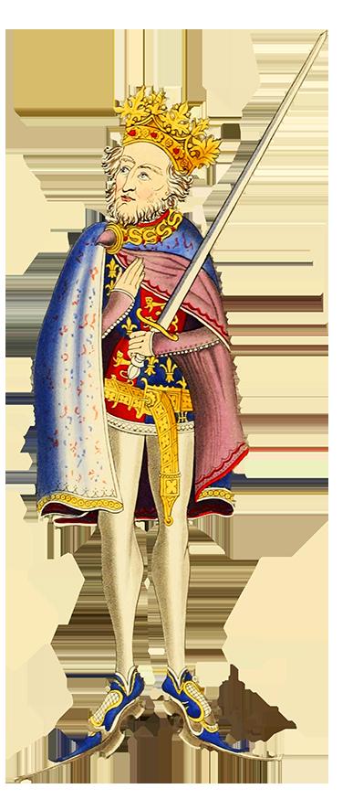 Clipart of King John medieval king