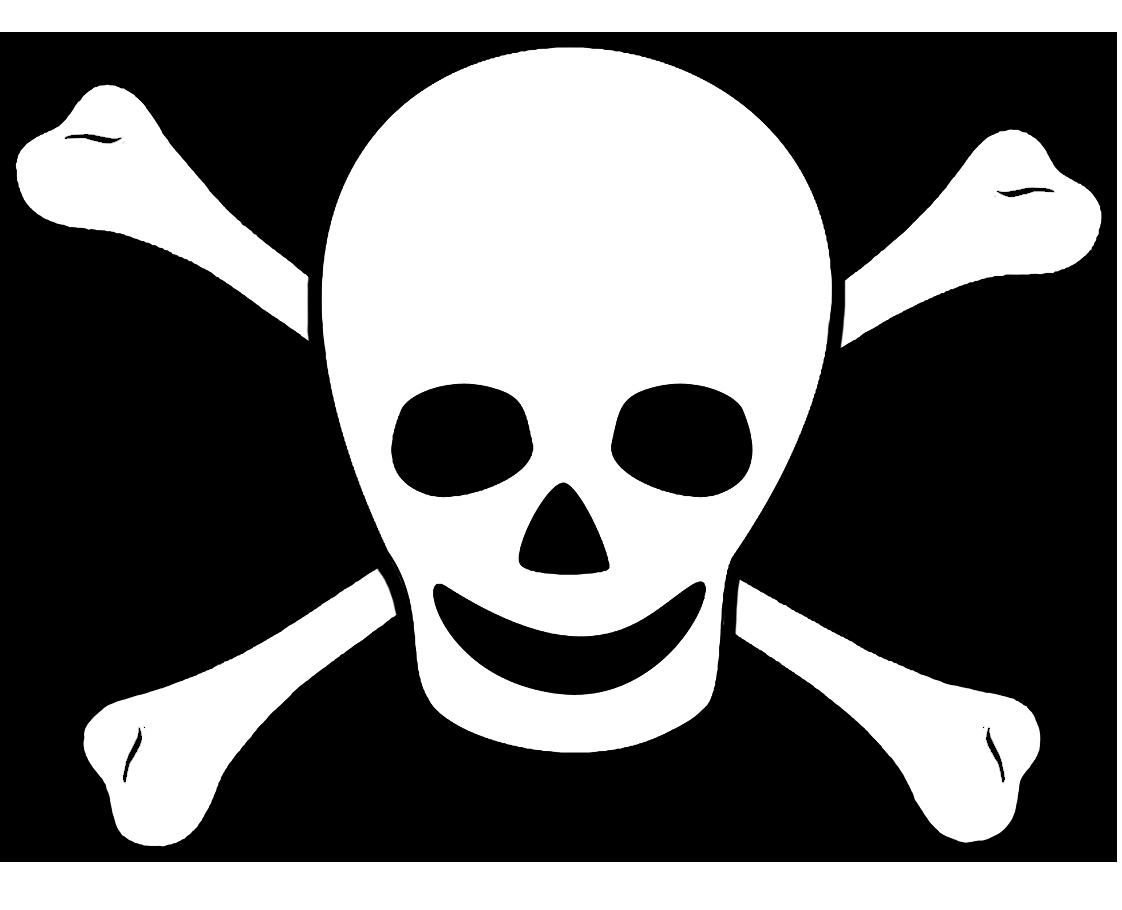 pirate sign scull bones
