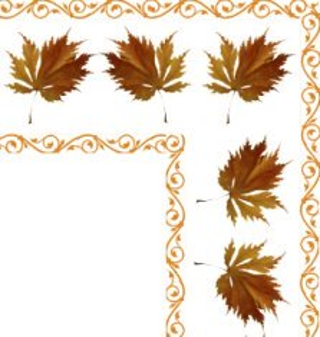 fall leaves clip art border corner