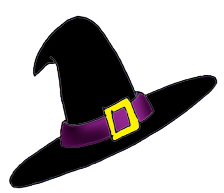 witch hat clip art for Halloween