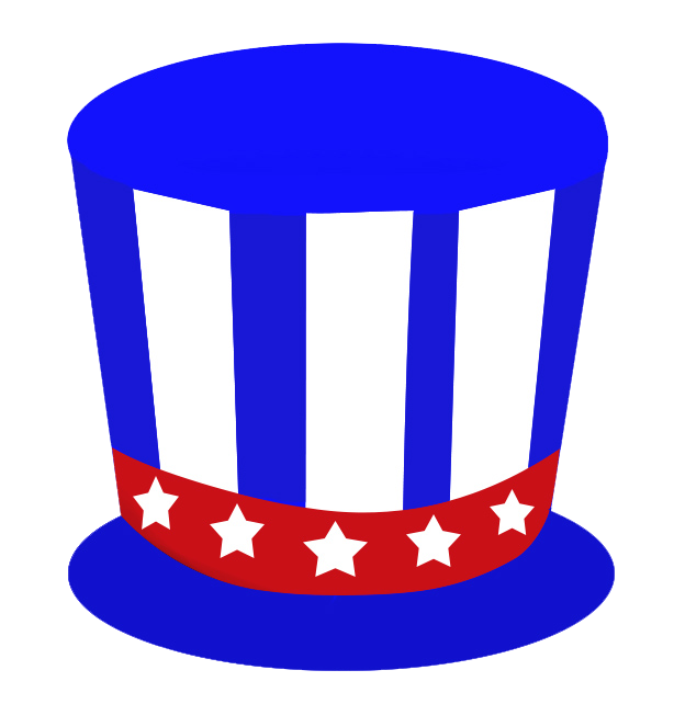 hat for 4th of July blue