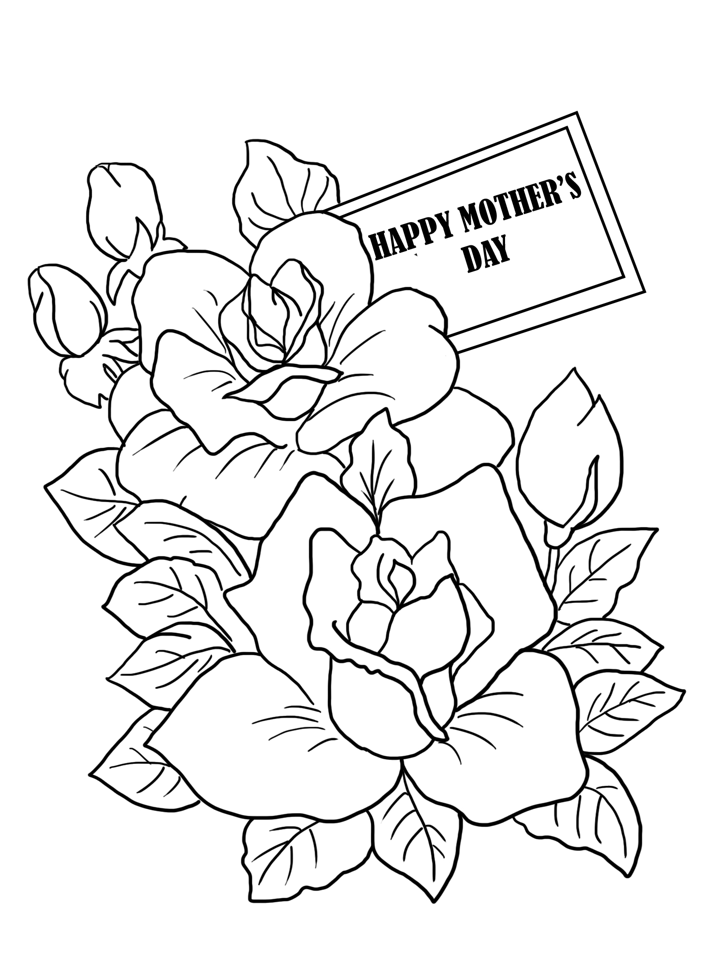flower coloring for Mother's day