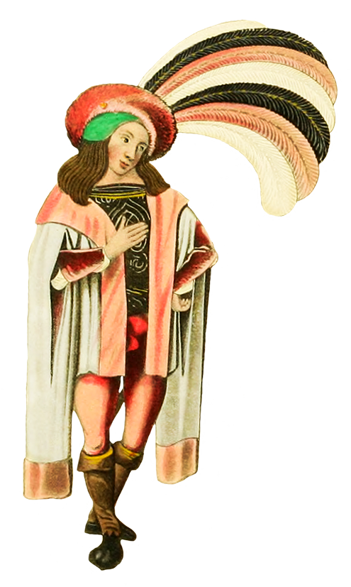 man in medieval clothes and hat