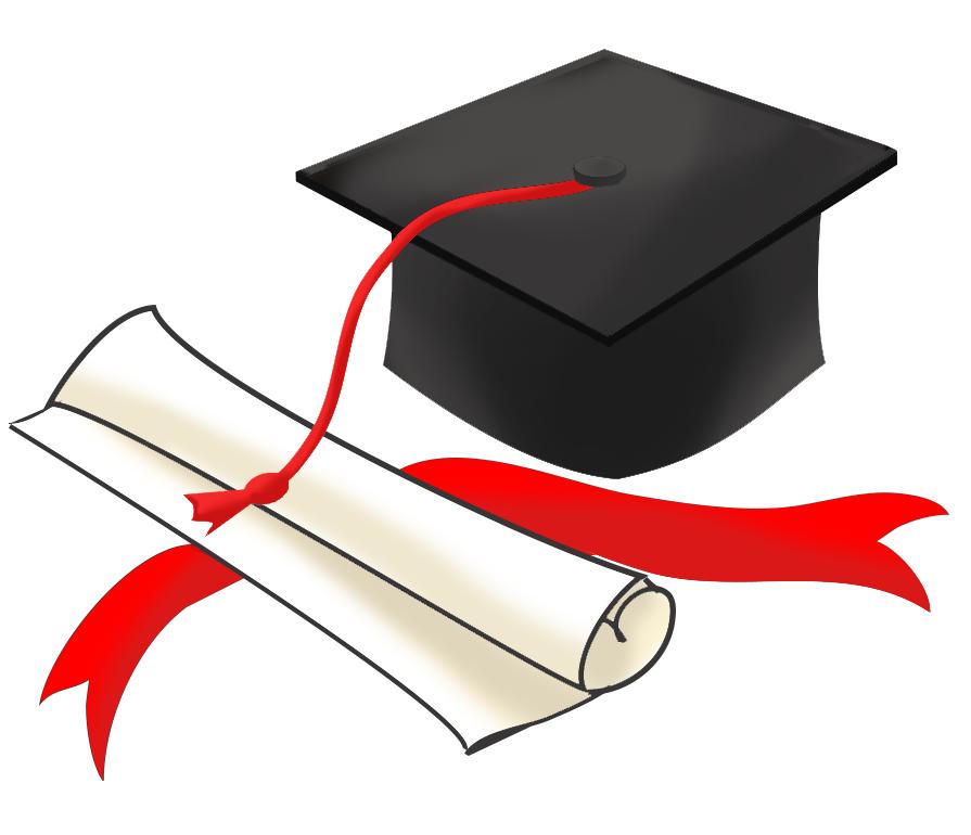 Graduation cap and paper