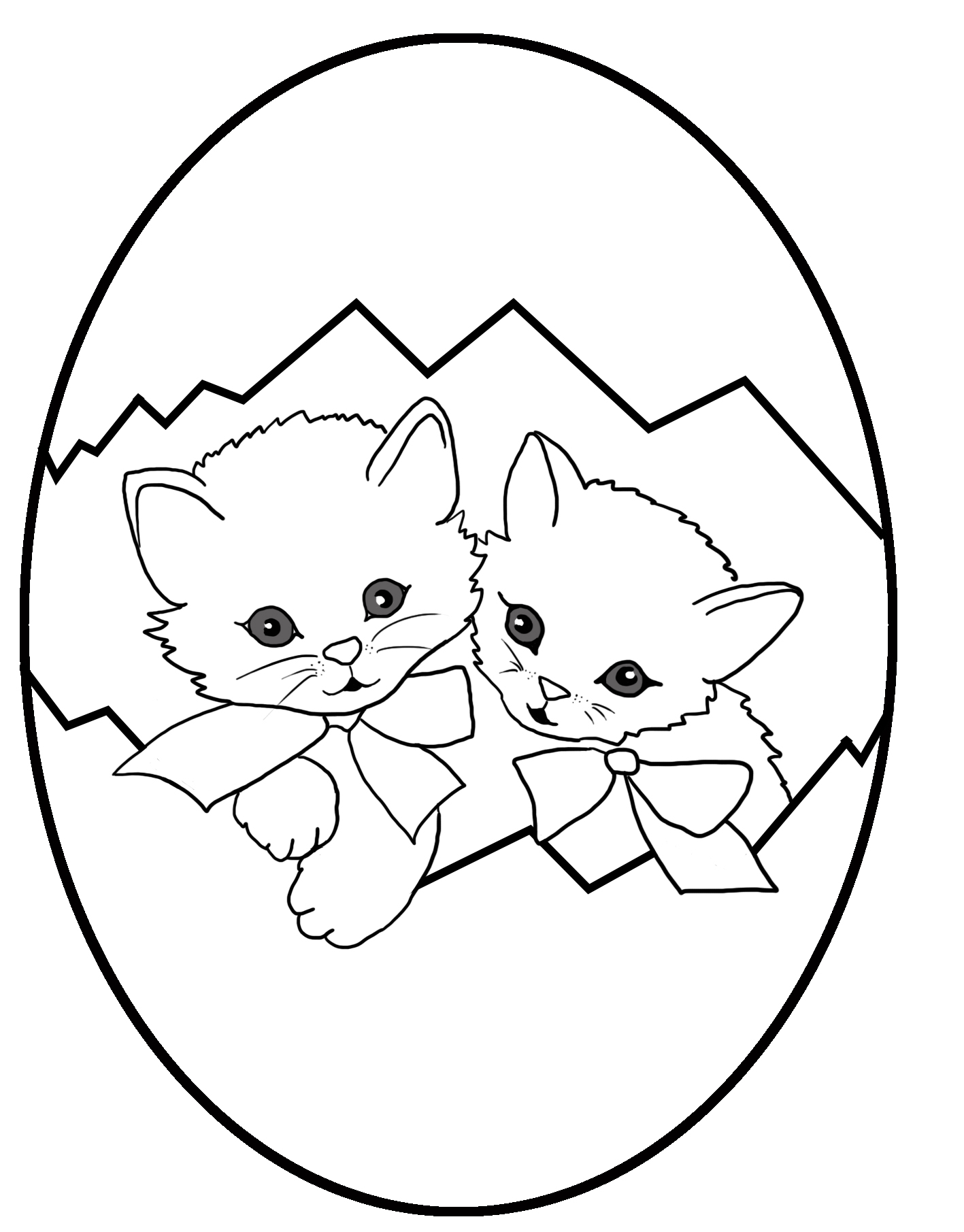two kittens in an Easter egg