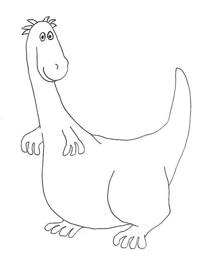 cartoon dinosaur sketch