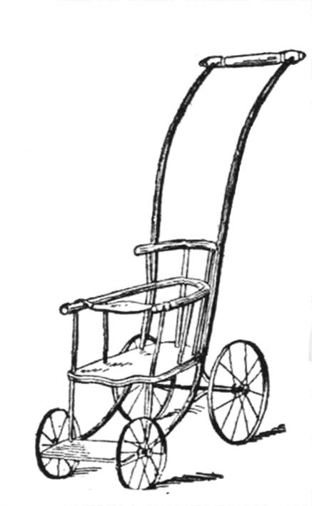 Victorian baby stroller