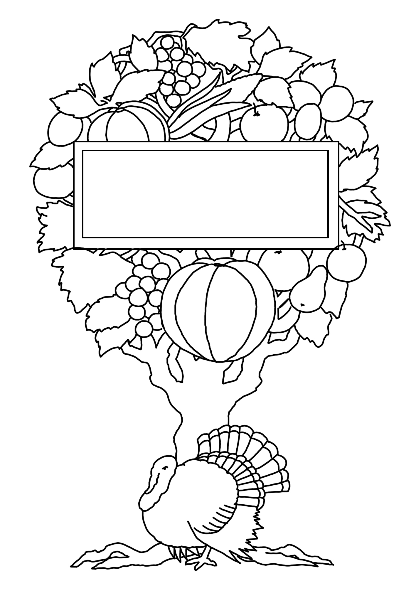 Thanksgiving tree for coloring