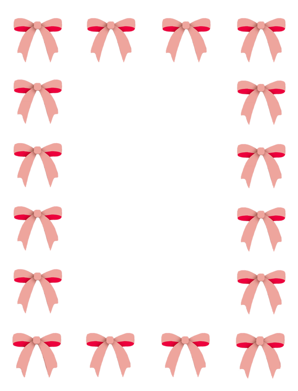 Frame with red bows