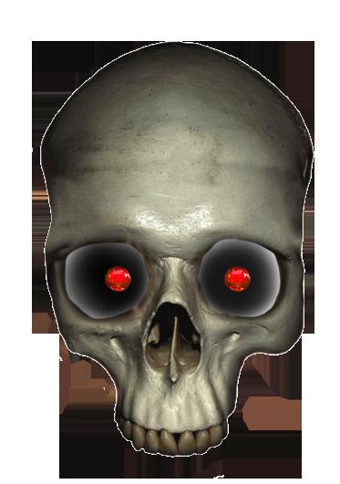 skull with ruby eyes