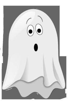 scared little ghost clip art