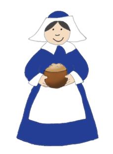 Woman with Thanksgiving porridge