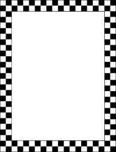 checkerboard frame black white